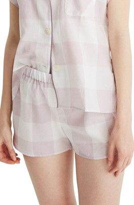 Madewell Lilac Gingham Bedtime Pajama Top