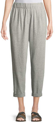 Eileen Fisher Speckled Knit Slouchy Ankle Pants, Plus Size