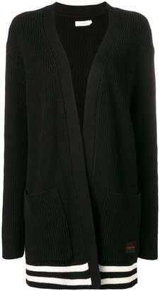 Calvin Klein stripe detail cardigan