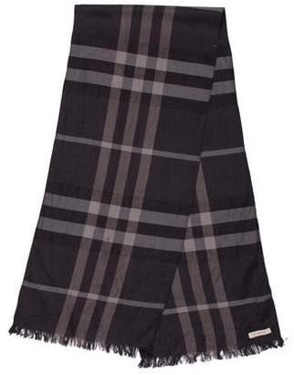 Burberry Smoke Check Wool & Silk Scarf
