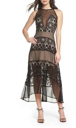 Foxiedox Tristan Lace & Chiffon Maxi Dress