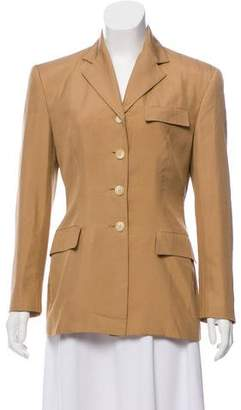 Ralph Lauren Silk Notch-Lapel Blazer