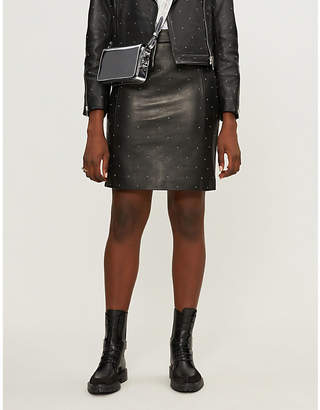 Claudie Pierlot Clyde studded leather pencil skirt