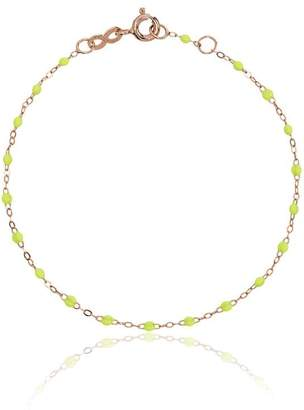 Gigi Clozeau lime green RG bead rose gold bracelet