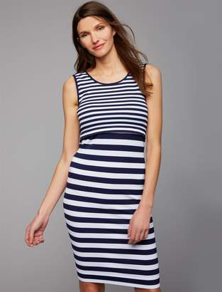 A Pea in the Pod Ripe Pull Over Mock Layer Nursing Dress