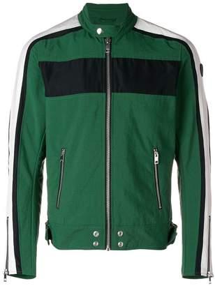 Diesel colour block biker jacket