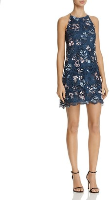 AQUA Floral Lace Sleeveless Dress - 100% Exclusive $98 thestylecure.com
