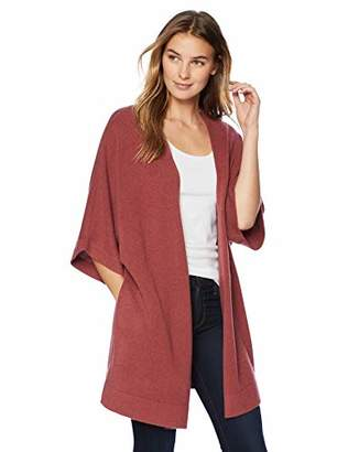 Lark & Ro Women's Oversized Drapey Open Cardigan Cashmere Sweater with Pocket