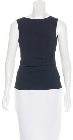 prada Prada Pleated Sleeveless Top w/ Tags