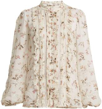 Zimmermann Ruffled pintuck blouse