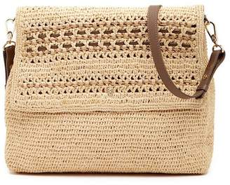 Helen Kaminski Fokai Leather Trimmed Shoulder Bag