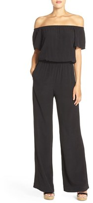 Women's Charles Henry Off The Shoulder Jumpsuit $92 thestylecure.com
