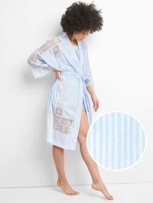 Gap Dreamwell Lace Trim Robe