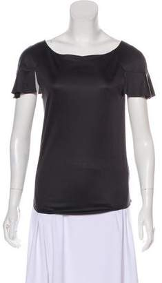Chloé Silk Short Sleeve Top