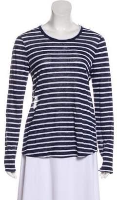 A.L.C. Linen Striped Long Sleeve Top