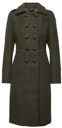 Banana Republic Italian Melton Military Coat