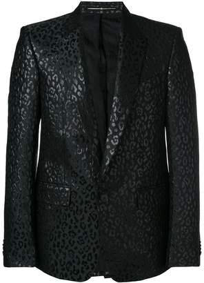 Givenchy leopard lurex tuxedo jacket