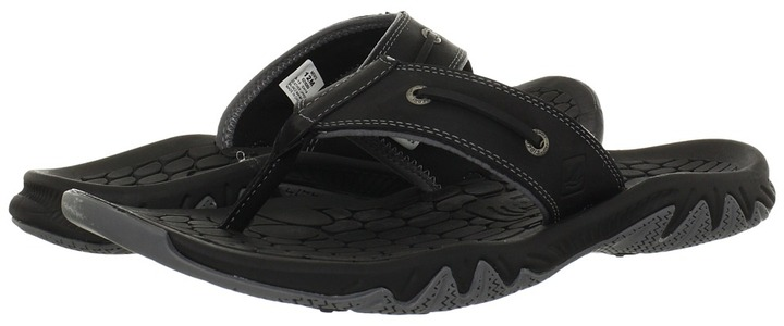 Sperry SON-R Pulse Leather Thong (Black) - Footwear