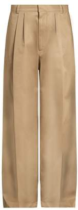 Raey - Wide Leg Cotton Chino Trousers - Mens - Tan
