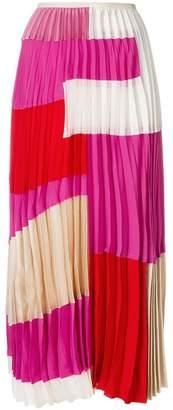 Marni colour block pleated skirt