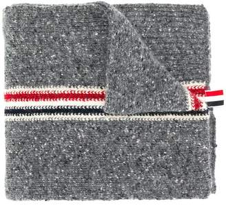 Thom Browne Striped Tweed Jersey Scarf