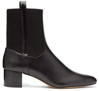 A.P.C. Chantal Leather Ankle Boots - Womens - Black