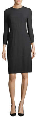 Escada 3/4-Sleeve Wool/Cotton A-Line Dress