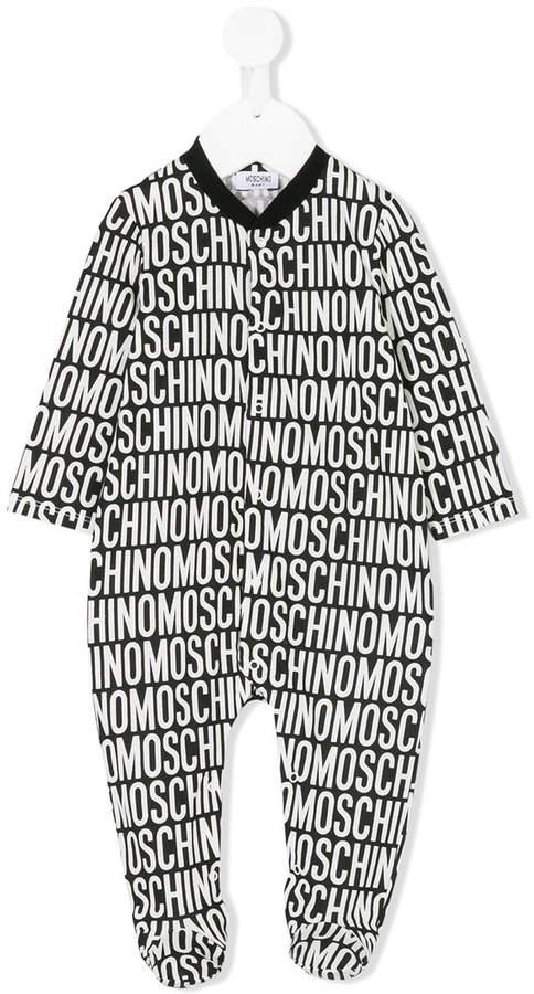 Moschino Kids Strampelanzug mit Logo-Print