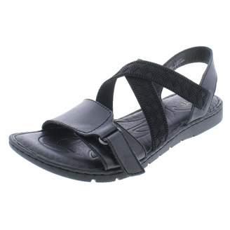 Børn Womens Britton Leather Open Toe Casual Slide Sandals