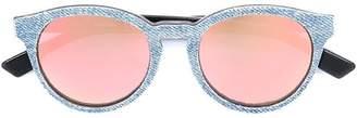 Diesel denim effect frame sunglasses