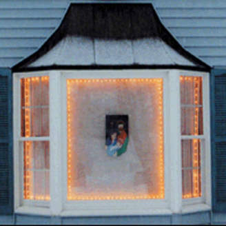 Asstd National Brand The Window Wonder Frame Kit For Mini Christmas Lights 4 Rod Pack