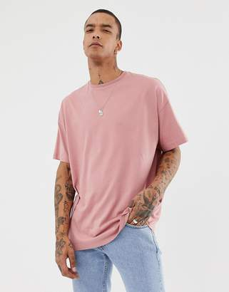 2878c8c27a Asos Design DESIGN organic oversized fit t-shirt with crew neck in pink