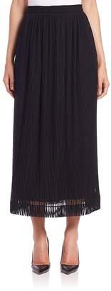 Tamara Mellon Women's Sheer-Stripe Midi Skirt