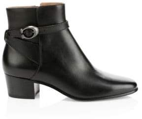 Coach Chrystie Buckle Leather Booties