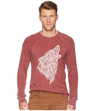 Lucky Brand Men's Long Sleeve Wolf Dreams Thermal Shirt
