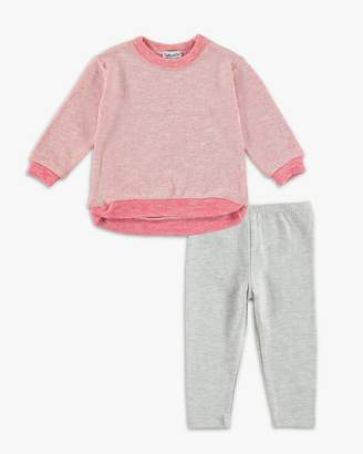 Baby Girl Loose Knit Long Sleeve Top Set