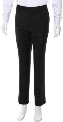 Canali Cropped Flat Front Dress Pants