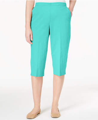 Alfred Dunner Cotton Pull-On Capri Pants