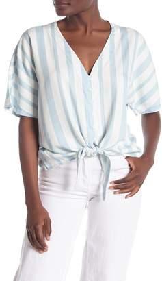 Velvet Heart Short Sleeve V-Neck Tie Front Shirt