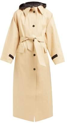 BEIGE Kassl Editions - Hooded Cotton Blend Raincoat - Womens Multi