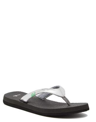 Sanuk Yoga Spree 4 Metallic Flip Flop