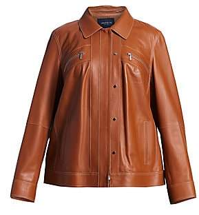 Lafayette 148 New York Lafayette 148 New York, Plus Size Women's Kesha Leather Jacket