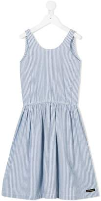 Finger In The Nose striped pleated dress