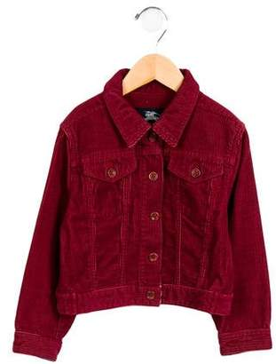 Burberry Girls' Corduroy Button-Up Jacket