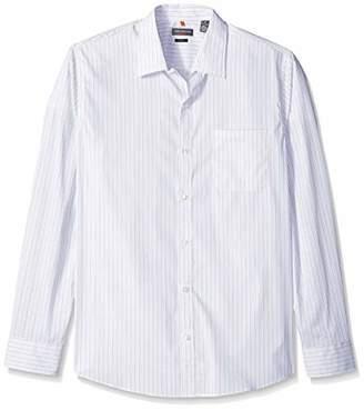 Van Heusen Men's Slim Fit Traveler Long Sleeve Button Down Stretch Black/Khaki/Grey Shirt