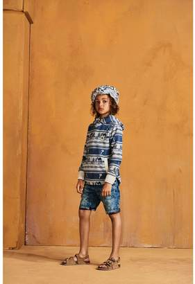 Scotch & Soda Indigo Print Shorts