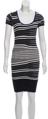 Nicole Miller Striped Mini Skirt