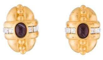 Givenchy Vintage Crystal Clip-On Earrings