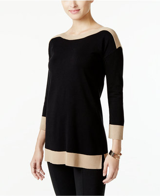 Cable & Gauge Contrast-Trim Sweater, Only at Macy's $60 thestylecure.com