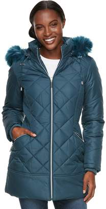 Details Women's Hooded Quilted Walker Jacket